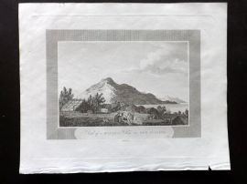 Pelham 1820 Antique Print. A View of Hippah or Village in New Zealand